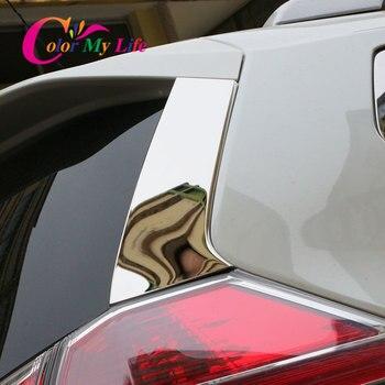 2 unids/set ventana trasera del coche cubierta del ala lateral Etiqueta de ajuste para Nissan x-trail Xtrail T32 2013-2017 auto accesorios exteriores