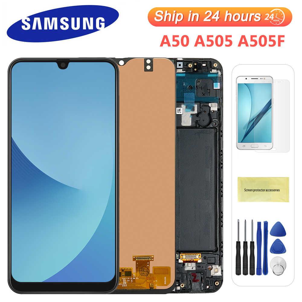 6.4 ''ل سامسونج galaxy A50 A505F/DS LCD A505F A505FD A505A شاشة إل سي دي باللمس شاشة مجموعة رقمية لسامسونج A50 عرض