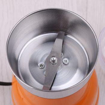 Elektryczny młynek do kawy ze stali nierdzewnej domu frezarka kuchnia 220V tanie i dobre opinie NoEnName_Null CN (pochodzenie) Other Ostrze kawy młynki STAINLESS STEEL Elektryczne 120W 50-60Hz