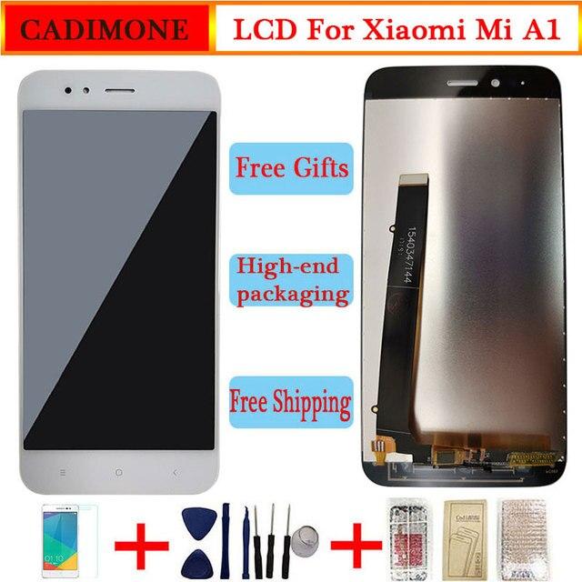 """Pour Xiao mi mi A1 écran daffichage LCD 5.5 """"AAA qualité LCD avec cadre 10 Touch pour Xiao mi 5X/A1 LCD 1920*1080 résolution assemblée"""