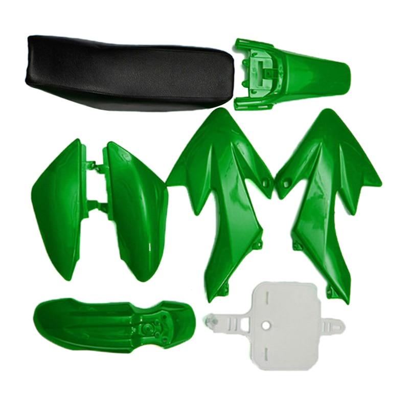 8Pcs 50Cc 110Cc 125Cc 140Cc Plastic 4 Stroke Crf50 Pit Off Road Bike Set Mudguard Seat   Motorcycle Motorcycle Diy Kits Green|  - title=