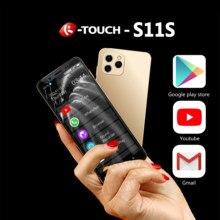 Anica S11 küçük Mini Android 9.0 çift 4G Ultra ince 4.8 ekran yüz kimliği 2 SIM çift bekleme