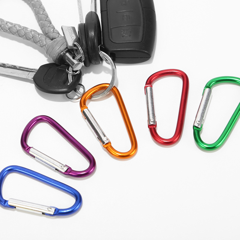 10Pcs//Lot 2 Inch Carabiners Clips Hook Keyring Camping Sports D Ring Shape Clip