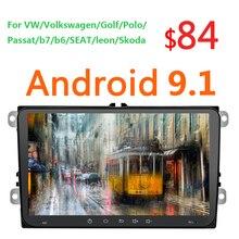 9 дюймов Android 9,1 1+ 16G автомобиль Mp5 Multimidia авто радио Gps для VW Volkswagen Golf Polo Passat b7 b6 SEAT leon Skoda w/Canbus 46
