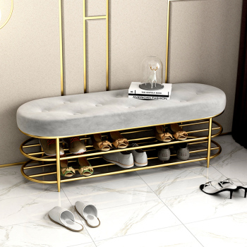 Customized Luxury shoe stool with 2 tiers shoe rack shelf sofa seat cushion entrance door shoe cabinet shoe bench storage stool practical wooden shoe cabinet closet storage rack pu seat bench entryway hallway black