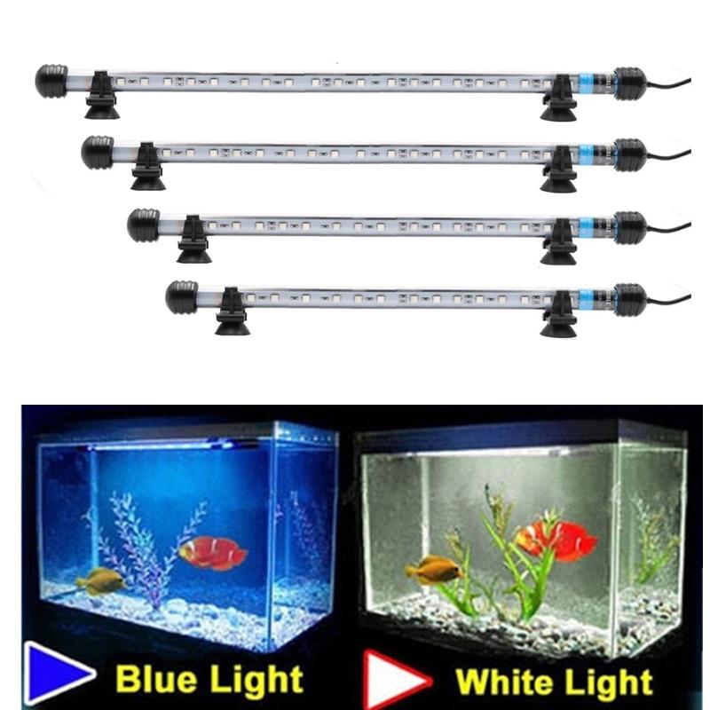 Led Aquarium lamp Light Waterproof Fish Tank Light Underwater Plant Fish Lamp Aquariums Decor Lighting 18-48CM US UK EU Plug