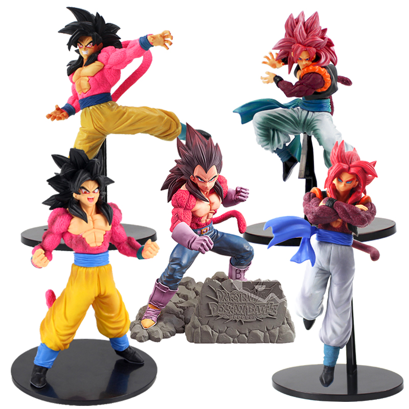 """Dragon Ball Z Goku Vegeta Super Saiyan 4 Gogeta Van """"Dragon Ball Gt"""" Beeldje Dbz Kamehameha Speelgoed"""