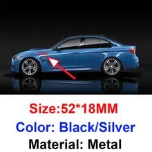 2 шт., автомобильные наклейки-эмблемы на боковые крылья для Bmw M3 E90 E60 F10 F30 E46 G20 X1 X3 X4 X5 E70 F20 E39 E92