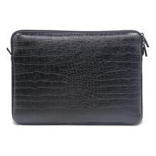 Bolsa de couro à prova dwaterproof água luva do portátil notebook caso capa bolsa para 12 13 15 polegada macbook ar pro retina