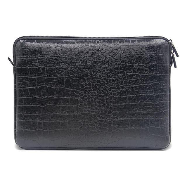 Waterdichte Lederen Laptop Sleeve Bag Notebook Case Cover Pouch Voor 12 13 15 inch Macbook Air Pro Retina