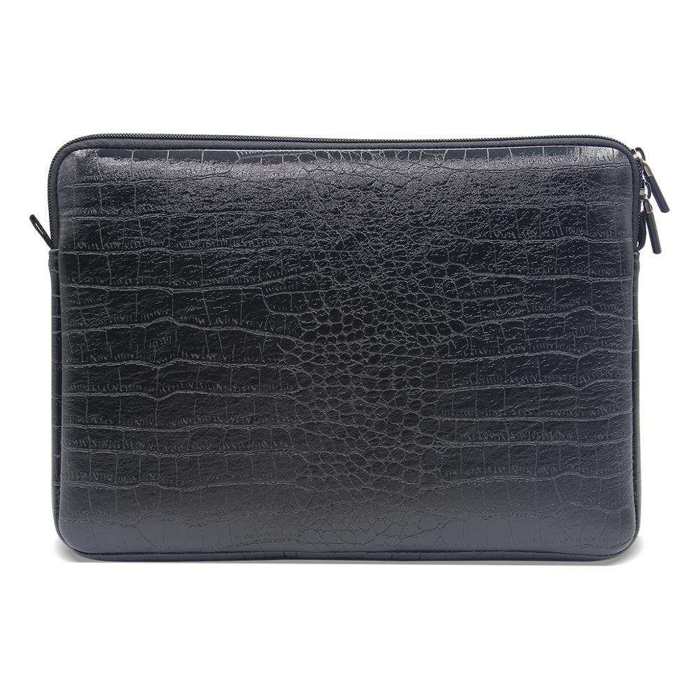 Waterproof Leather Laptop Sleeve Bag Notebook Case Cover Pouch For 12 13 15 inch Macbook Air Pro Retina image