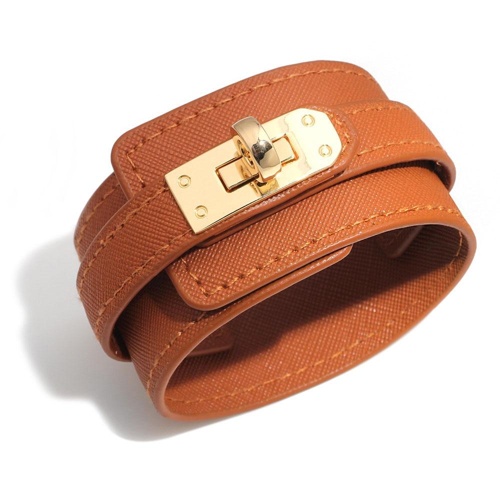 Kirykle-Bracelet en cuir, 6 couleurs, breloque multicouche pour femmes, Punk décontracté, accessoires de bijoux de fête, cadeau d'anniversaire de noël