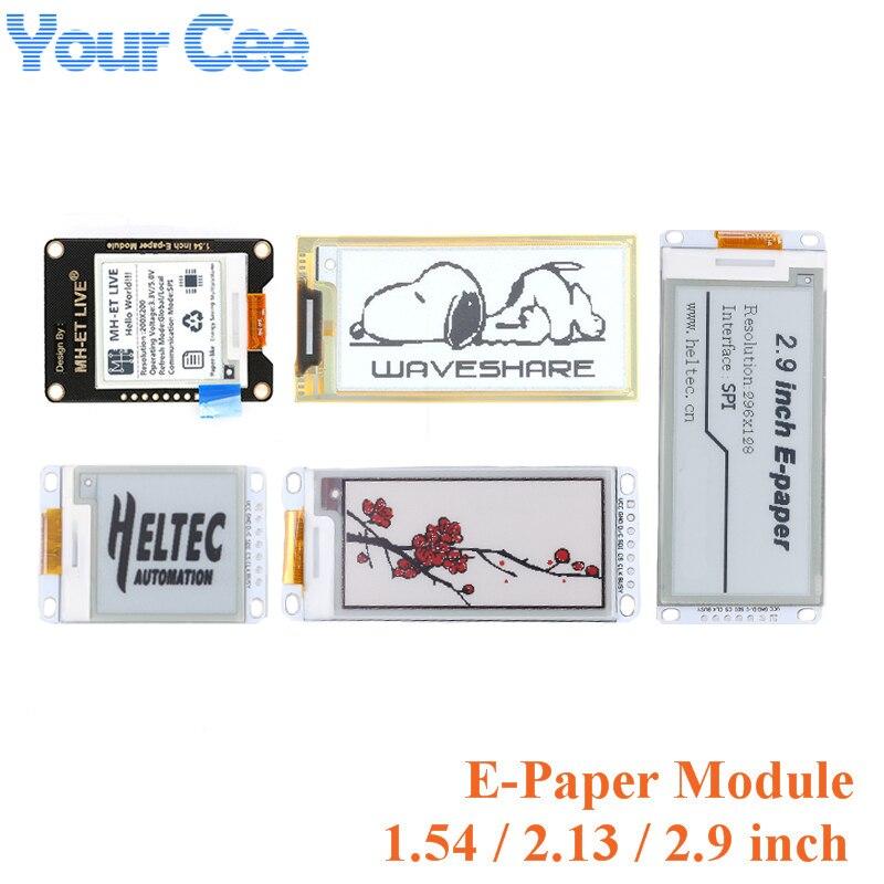1.54 2.13 2.9 cala SPI E Ink E papier moduł wyświetlacza LCD e-ink moduł e-papieru czerwony biały czarny wyświetlacz DIY dla Arduino