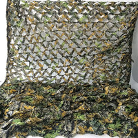 4X5M Military 3D Tree Leaves Camouflage Camo Net Netting Mesh Fabric for Outdoor Hunting Hide Cover CS Decoration