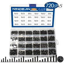 720 шт. потайная плоская головка phillips маленький мини винт набор m1.4 m1.7 m2 m2.5 m3 из углеродистой стали для ноутбука и ноутбука