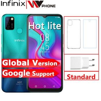 Перейти на Алиэкспресс и купить Глобальная версия Infinix Hot 10 Lite 2 ГБ 32 ГБ смартфон 5000 мАч аккумулятор 6,6 дюйма HD 1600*720P камера 13 МП Helio A20