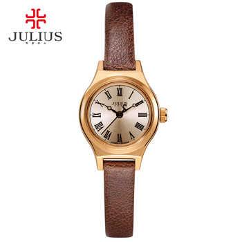 JULIUS Uhr Für Frauen JA-964 2017 Neue Frühling Begrenzte Edition Schwarz Braun Weiß Leder Luxus Uhr Designer Uhr Montre Femme