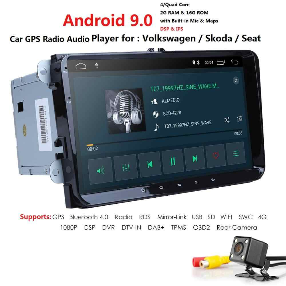 4GWIFI 2G+16G IPS DSP Android 9.0 CAR NODVD PLAYER For Skoda Octavia Fabia Rapid Yeti Superb V W passat golf 4 5 polo tiguan GPS
