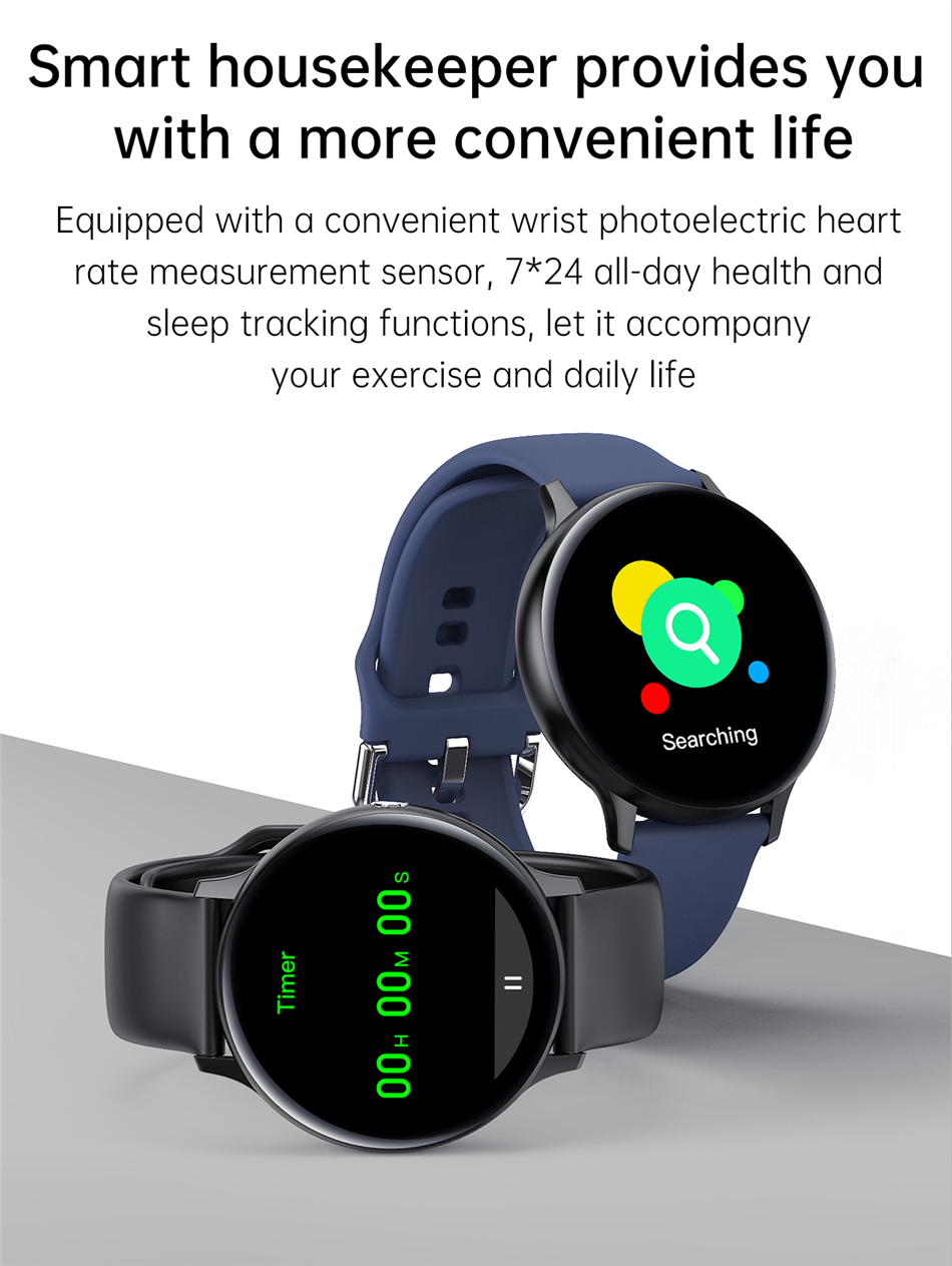 Hb2fe55a06844478a82b5b5fd3d0a007e5 2021 Bluetooth Call watch Smart watch For men And women Full touch fitness tracker Blood pressure Smart clock ladies Smart watch