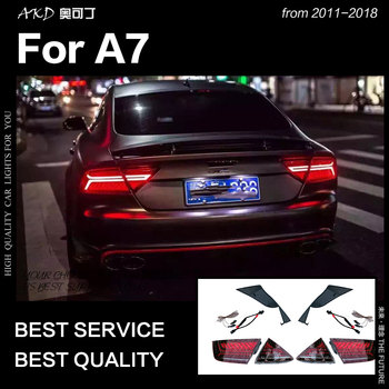 AKD Car Styling for Audi A7 Tail Lights 2011-2018 S7 LED Tail Lamp LED DRL Dynamic Signal Brake Reverse auto Accessories