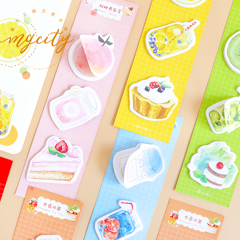 60 Sheets/pad Yummy Sugar Theme Self Adhesive Memo Pad Sticker Sticky Note Notepad Marker Planner Stationery
