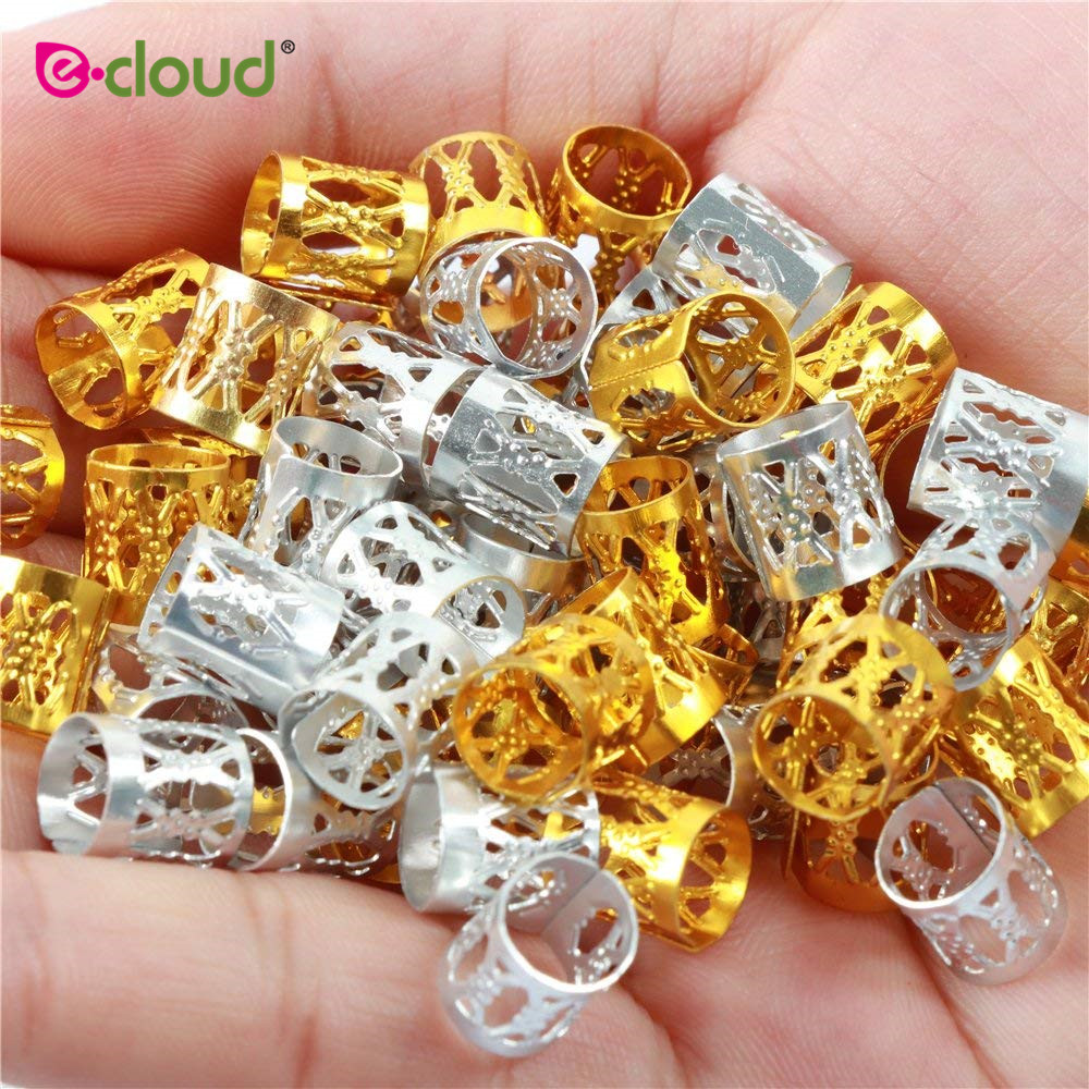 300Pcs Deadlocks Beads Hair Ring Aluminum Hair Cuffs Multi Color  Metal Cuffs Hair Braiding Beads Hair Decorations Clips