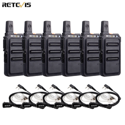 RETEVIS RT19/RT619 Walkie Talkie 6PCS PMR Radio FRS/PMR446 VOX Scrambler Frequency Hopping Two Way Radio Transceiver Comunicador