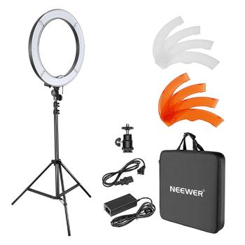 Neewer Camera Photo Studio YouTube Video Lighting Kit: 18''/48cm 55W Dimmable LED SMD Ring Light with Color Filter+Light Stand