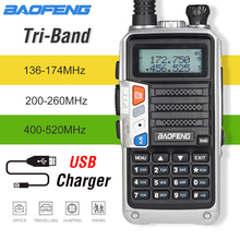 NEW Tri-Band BaoFeng UV-5R Pro Walkie Talkie 8W Powerful Two Way Radio 200-260MHz HF FM Transceiver UV 5R Upgrade CB Ham Radio