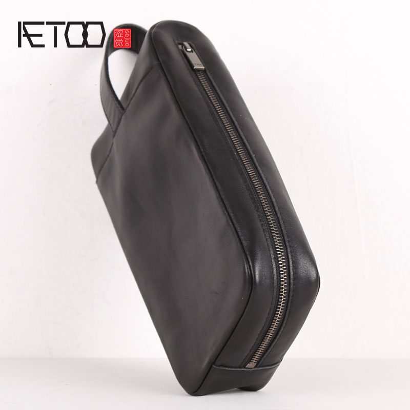 AETOO Leather collection bag, head leather hand-held bag, leather hand bag