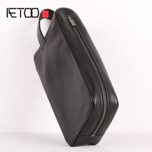 AETOO Leather collection bag, head leather hand-held