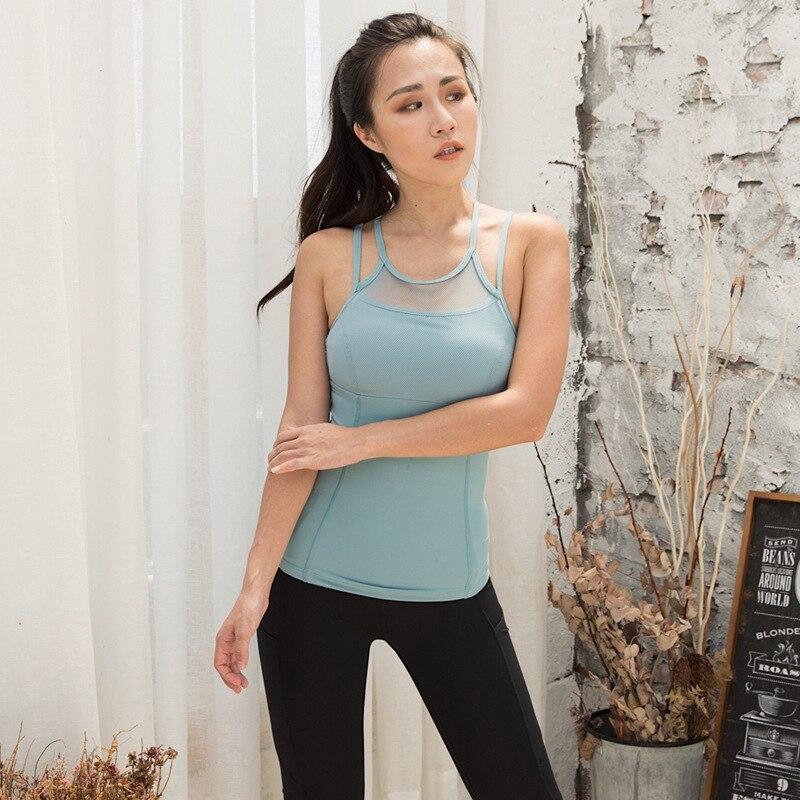 Workout Underwear Vest Bra Tops Caraco Décontracté Jogging Yoga Crop Top Comfy