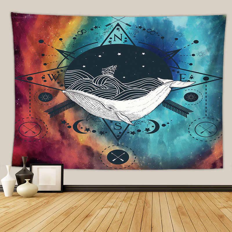 โบฮีเมียนผีเสื้อ phychedelic tapestry mandala ผนังผ้าห่ม dorm home decor Horus evil eye พรมแขวนผนัง