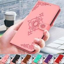 3D lustro kwiat skórzane etui z klapką na LG K50 Q60 K51 K40S Q70 K41S K51S K61 portfel przypadku karty telefon pokrywy skrzynka Coque Capa