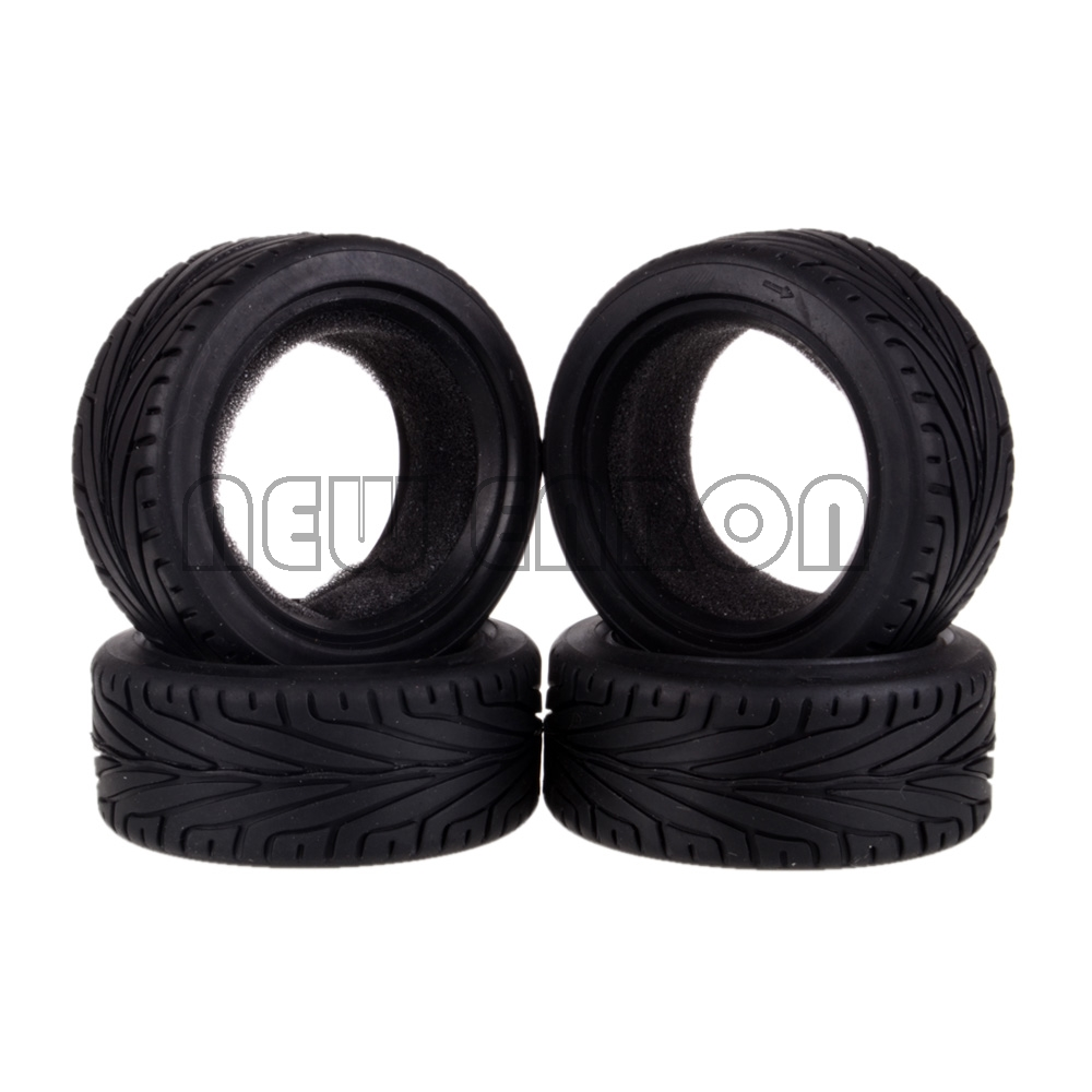 NEW ENRON 4PCS 68MM Rubber Tyres Tires 1/10 RC Car On Road Racing Fit HSP HPI Redcat