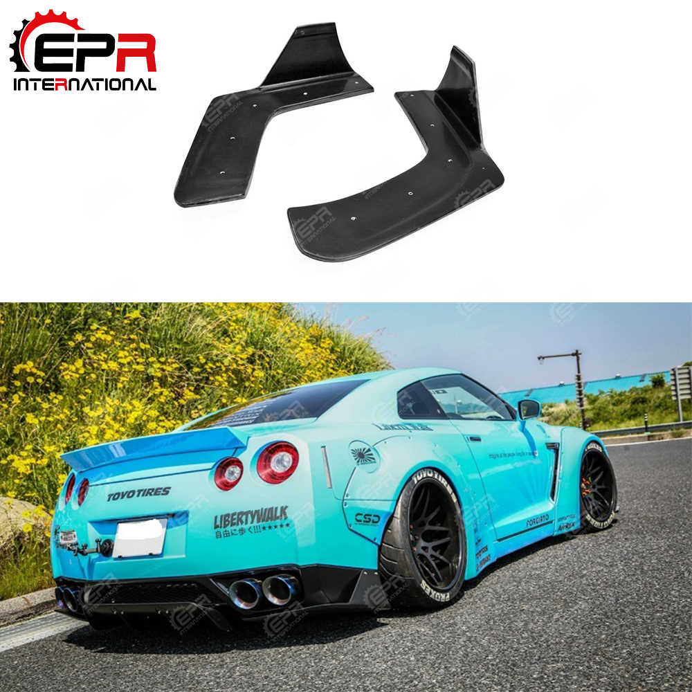 For Nissan R35 GTR LB Style Trunk Spoiler Fiberglass Rear Wing FRP Drift Trim