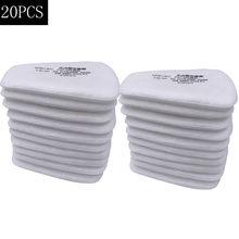 Filtro de algodón a prueba de polvo 5N11 para mascarilla de Gas, respirador químico reemplazable para pintura de pulverización, 6001/6200/7502/6800, 10 Uds.