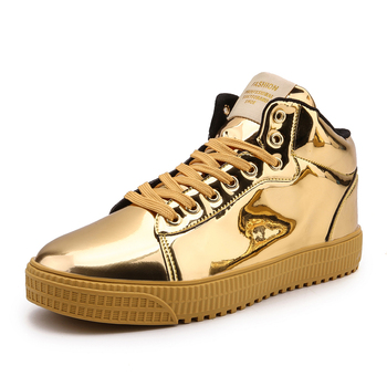 1 6 female body long sleeve shirts short pants male lace up sneakers high top shoes Gold Silver Black Leather Casual Shoes Men High Top Big Size Couple Shoes Lace Up Sneakers Outdoor Male Footwear Men Gold Shoes