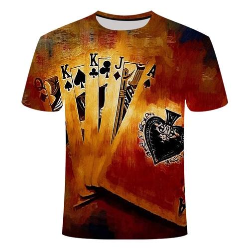 Летняя футболка с 3D принтом в виде пива, покера, для мужчин и женщин, забавная Новинка, футболка с круглым вырезом и коротким рукавом, топы, модные уличные мужские футболки - Цвет: TX027