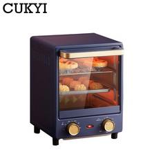 Cukyi 12l casa forno de cozimento elétrico mini forno vertical inteligente pizza sobremesa bolo maker 60min tempo ferramentas cozimento 220v