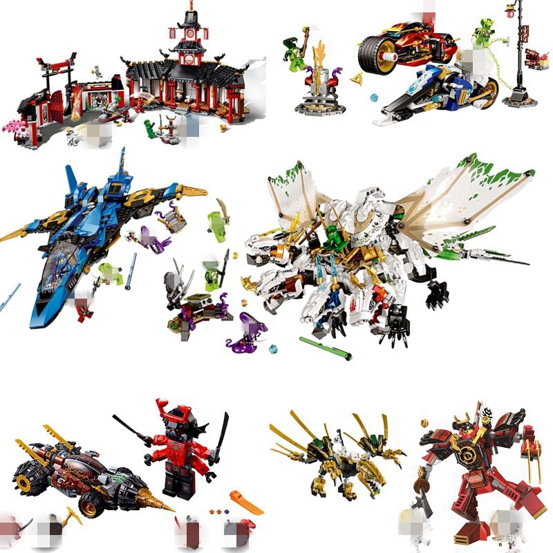 <font><b>Ninjagoed</b></font> Series Fighter Spaceship Wars Figures Model Compatible with Legoinglys <font><b>70668</b></font> Building Blocks Toys for Children Gift image
