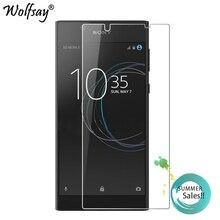 2 sztuk dla szkła Sony Xperia L1 ochraniacz ekranu szkło hartowane dla Sony Xperia L1 szkło dla Sony L1 G3312 folia ochronna Wolfsay