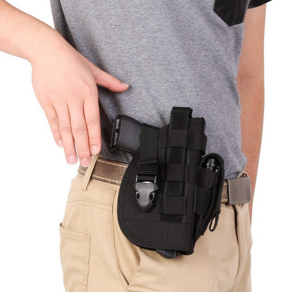 Tactical Gun <font><b>Holster</b></font> Glock 17 <font><b>1911</b></font> Revolver <font><b>Holster</b></font> Universal Pistol Airsoft Waist Belt <font><b>molle</b></font> pouch Holder Hunting Accessories image