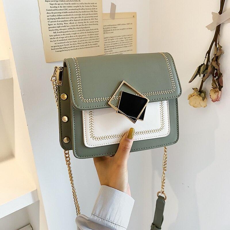 Chain PU Leather Crossbody Bags for Women Small Shoulder Messenger Bag  Chain Lock Design Female Handbags Sac Femme 2019 Nouveau Shoulder Bags  -  AliExpress