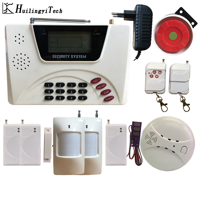 Free Shipping Wireless GSM Alarm Home Security Alarm System Keyboard Home Alarm System Sensor Kit For House Security System