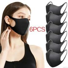 6Pcs Face Mask Mascarilla Washable Earloop Facial Mask Anti PM2.5 Cycling Anti Dust Warmer Environmental Mouth Respirator Mask