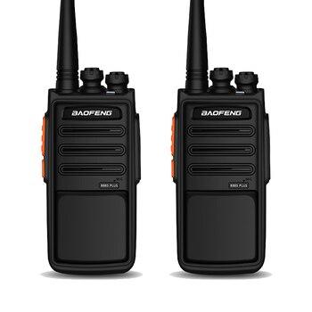 2 uds. Walkie Talkie BaoFeng BF-888S Plus con 16 canales de voz más clara cb radio y cargador USB de largo alcance estilo caza ham radio