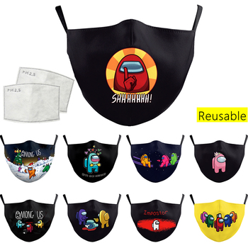 Among Us Printing Mask Outdoor Windproof Mouth Breathable Protection Face Washable Fabric for Adult Children Cotton image