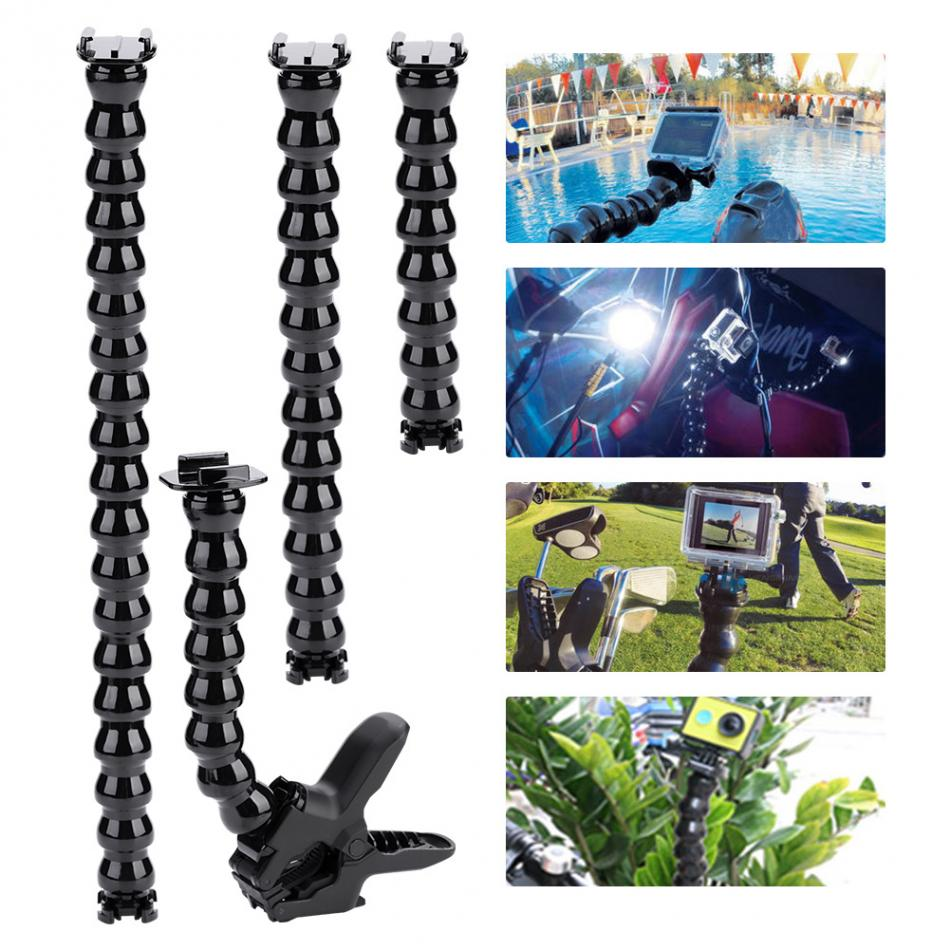 Multi-function Camera Flexible Clamp Arm Bracket Holder Mount For GoPro Hero 8/7/6/5/4/3+3/2 Action Camera Neck Tripod Accessory