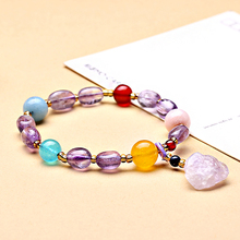 Factory wholesale natural purple new  lavender color bracelets for women original stone with a bracelet purple pendant jewelry natural old pit a cargo ice waxy filled with purple violets bracelet burma stone bracelet with certificat